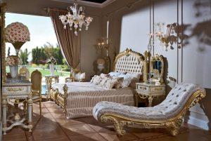 النمط الكلاسيكي لغرف النوم